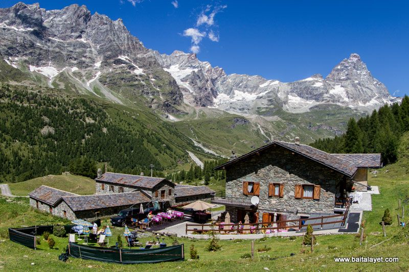 Breuil Cervinia in estate